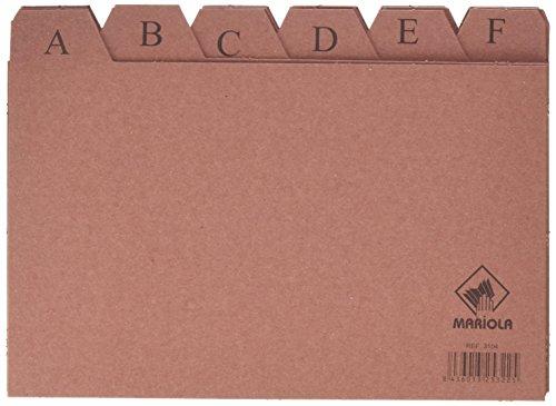 Mariola 3104 - Índice alfabético 24 posiciones cartón 200x120 mm