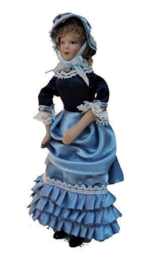 Melody Jane Casas de Muñecas Miniatura Victoriano Abrigo de Dama en Rojo las personas de Porcelana