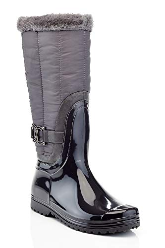 Henry Ferrera Connection-100 Gray Ladies Tall Snow/Rain Boot (5)