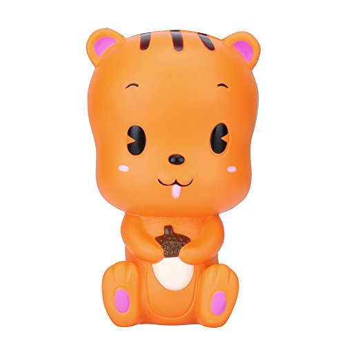 Review Of Yamart 3D Cartoon Animal Toy Squirrel Toast Scented Charm Slow Rising Squeeze Stress Reliever Toy, PU Decompression Toys 1386cm