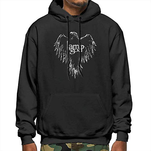 SDFGSE Lamb of God Men's Polyester Hoodie Pocket Sweater Jackets M