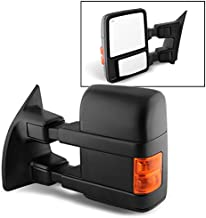 For 08-16 Ford SuperDuty Extendable Towing Power Telescoping Wide Angle Side Mirrors Driver Left Side