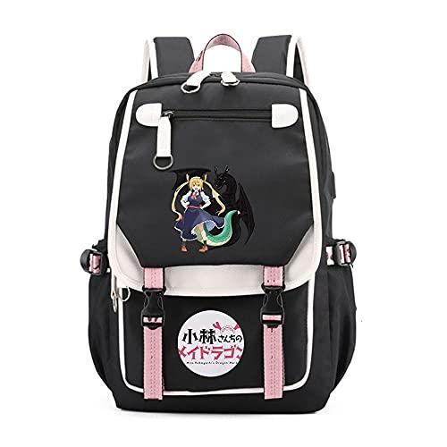 SHU-B Miss Kobayashi's Dragon MaidMochila para Chicas Moda Impreso Universidad Bolsas Estudiante Escuela Mochila Laptop Viajes Bolsa Daypack