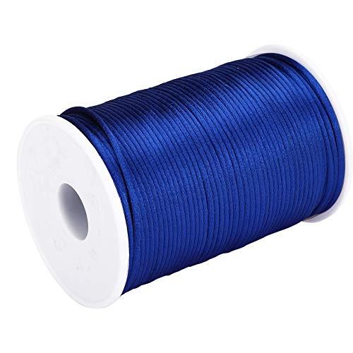 Sugoyi Cordón de Nailon Liso, Hilo de Nailon Suave de 300 pies, para Coser Joyas(Royal Blue)