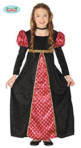 Guirca – Kostüm, für Mädchen, 10/12 Jahre, Farbe Schwarz und Rot, 10-12, 88537