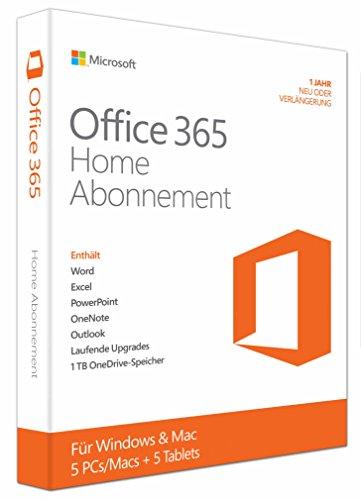 Office 365 Home Premium - 5PCs/MACs - Abonnement 1 Jahres - multilingual - product key card ohne datenträger [import allemand]