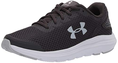 Under Armour Women's Surge 2 Running Shoe, Jet Gray (101)/White, 5