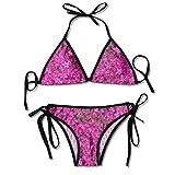 La Primavera florece los Sistemas para Mujer Impresos del Bikini, bañador de la Playa del Traje de baño del triángulo