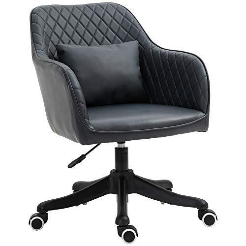 sedia ufficio ergonomica massaggiante Vinsetto Sedia Ufficio Ergonomica e Regolabile in Similpelle Grigio Scuro