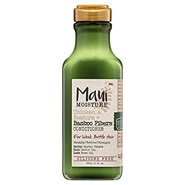 Maui Moisture Thicken & Restore + Bamboo Fibers Strengthening Conditioner to Soften Transitioning or Natural Hair…