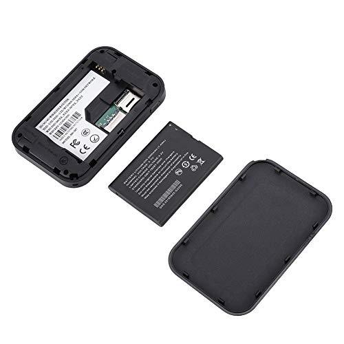 QITERSTAR Punto de Acceso 4G, enrutador móvil de 9.5x6.5x1.8cm 2000mAh, Rendimiento Estable e inalámbrico para Europa/Asia Tarjeta SIM 3G / 4G(Black)