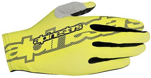 Alpinestars F-Lite Herren-Handschuhe, Schwarz/Schwarz/Acid Yellow, Größe M