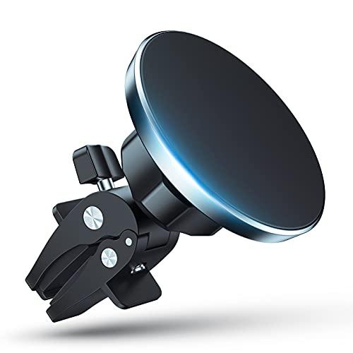 Magnetisch Handyhalterung fürs Auto - Magnet Autohalterung Handy Kompatibel mit MagSafe und iPhone 12, 360° Drehung Auto Lüftung Magnetische KFZ Handyhalterung für iPhone 12/12 Pro/12 Pro Max/12 Mini