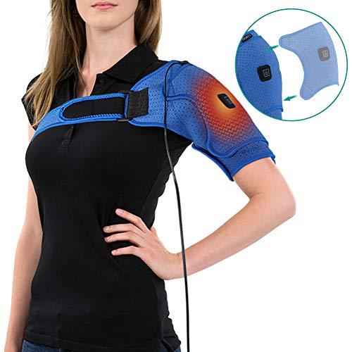 Neopren Verstellbare Schulterbandage, Wärme-Therapie-Pad Einstellbare USB-Heizkissen, Gefrorene Schultern, lindern...
