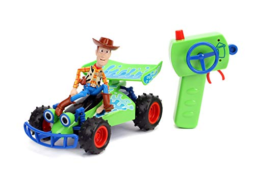 Jada Disney Pixar Toy Story 4 Turbo Buggy W/Woody Radio Control Vehicle, 2.4 Ghz, 1: 24