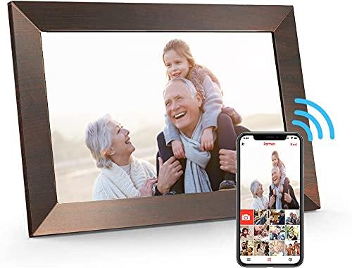 CEDITA Digitaler Bilderrahmen 10,1 Zoll Touch Screen Elektronischer Bilderrahmen HD 1080P mit 16 GB Speicher, Automatischer Drehung, Einstellbarer Helligkeit, iOS- und Android-App