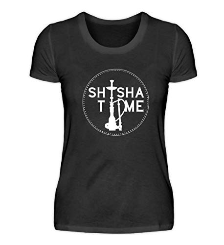 Chorchester Shisha Time - Camiseta para mujer Negro S