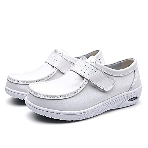 UELEGANS Zapatos Mujer Trabajo Enfermero Deportivas Correr Gimnasio Casual Zapatos para Running Transpirable Aumentar Más Altos Sneakers, 34-41,Plus Velvet,38