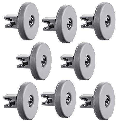 Lavastoviglie rotella - WENTS Rotelle per cestello della lavastoviglie 50286965004 8 rotelle di ricambio per lavastoviglie, compatibili con AEG, Privileg, Zanussi, Juno, Electrolux, Ikea