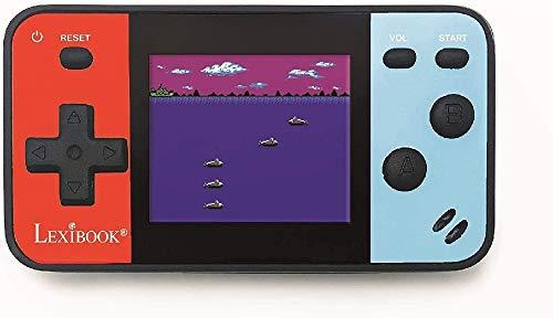 LEXIBOOK- Consola portátil Cyber Arcade Pocket 150 Juegos, Pantalla LCD en Color de 1,8 Pulgadas (4,5 cm), Videojuegos para Adolescentes, Azul/Rojo