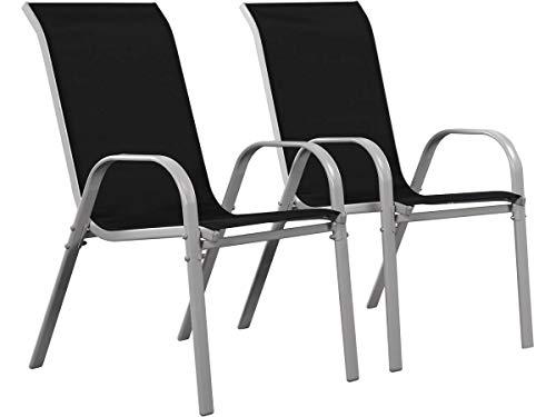 Juego de 2 sillas jardín Textileno Cordoba - Phoenix - Negro
