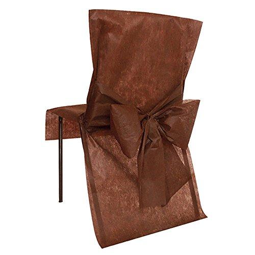 Santex Stuhlhusse mit Schleife, Schokoladenbraun, Einheitsgröße