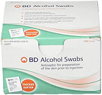 100-Count BD Alcohol Swabs