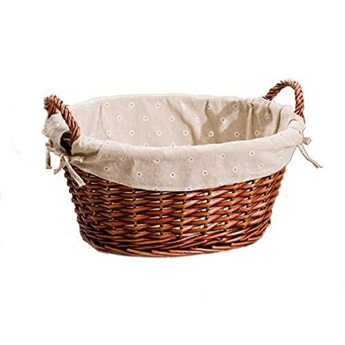 Handmade Wicker Wicker Shopping Boxs Basket Fabrics Storage Basket Picnic Fruit Basket Wicker Rattan Basket Wicker Bedroom Dirty Clothes Hamper Laundry Basket Toy Household Debris Sorting Basket