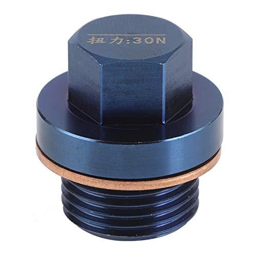 Perno del tapón de drenaje de aceite, rosca M18x1.5 Perno del tapón de drenaje de aceite, O Perno de drenaje de aceite magnético, Perno de drenaje de la bandeja de aceite del motor para