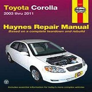 Years Toyota Corolla