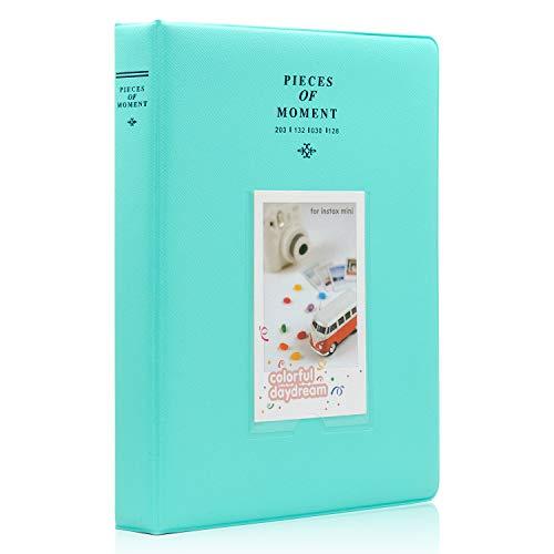 Ablus 128 Pockets Mini Photo Album - Fits for Fujifilm Instax Mini 9 Mini 8 Mini 90 Mini 25, Polaroid Snap PIC-300, Kodak Mini 3-Inch Film (Mint)