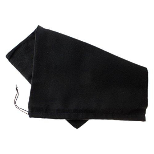 TelMo® Schuhbeutel aus Baumwolle mit Zugband 40 x 30 cm SCHWARZ
