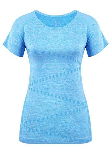 Disbest - Fitness-T-Shirts für Damen in Blue, Größe 40
