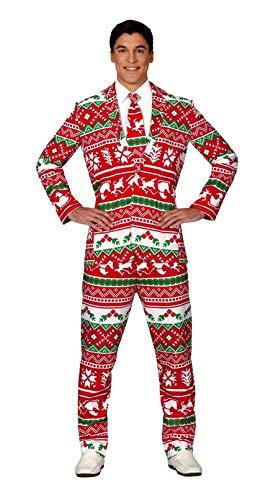 GUIRMA Abito di Natale Completo Uomo Natalizio con Cravatta