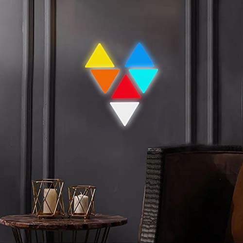 JAKROO Smart LED Modular Panels Dreieck, Quanten Nachtlicht Bar Gaming Lichter Spleißen DIY Wanddekoration, für Die Innenbeleuchtung, 9 pcs