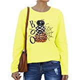 Rugby clothing boutique Q Mode Sweat-Shirt à Manches Longues Casual lâche T-Shirt imprimé personnalisé Base Shirt Dames Dames Sweat (Color : Yellow, Size : 3XL)