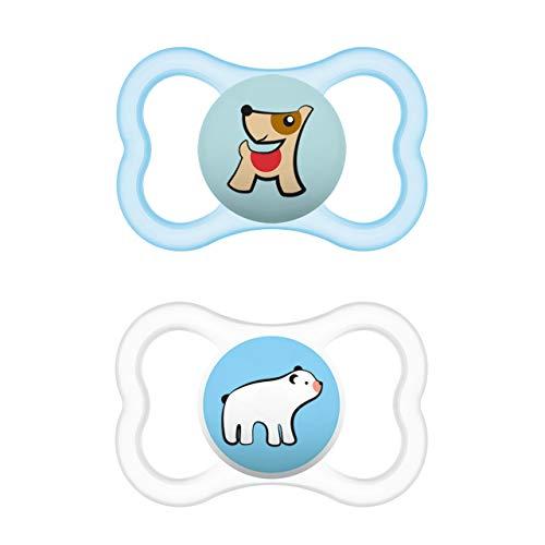 Mam Supreme Juego de 2 chupetes para bebé para dientes y mandíbula sanos, previene la irritación de la piel, con caja de chupetes, 6-16 meses