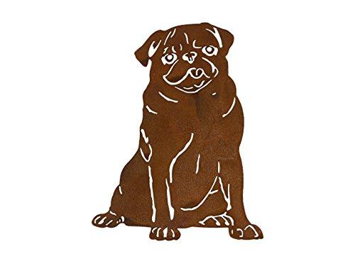 ARTTEC Design Hund Mops (Edelrost-Deko) (Mops)