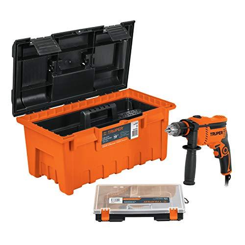 Truper COMBO-100, Combo rotomartillo, de 600w, caja de herramientas, de 19' y organizador de 15'