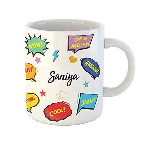 ARTBUG™ Saniya Name Ceramic Coffee Mug