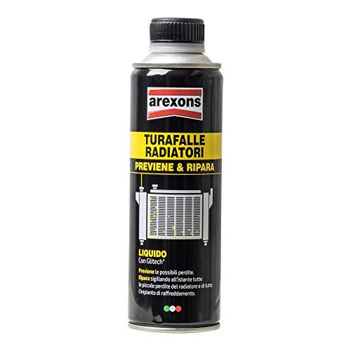 AREXONS Liquido per radiatori 300 ml, turafalle radiatore Auto Sigilla perdite radiatore, Azione preventiva, glitech Anti corrosione, Monodose, Facile da Usare, Beige