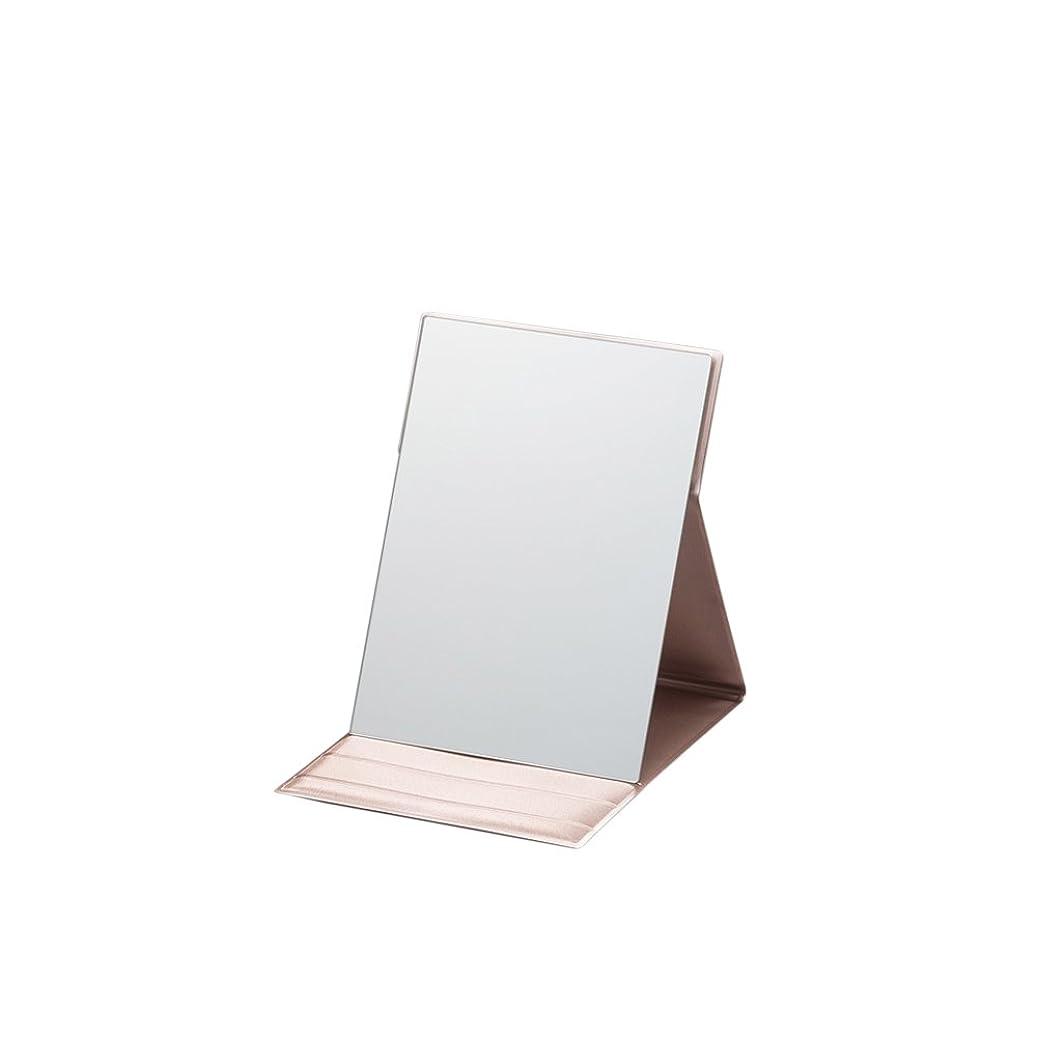 調和のとれたペア瞑想するナピュアミラー プロモデル折立ナピュアミラーM ピンクゴールド AM-002P