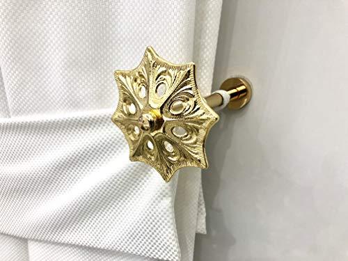 Gordijnroede, gevlochten plat weefsel, goudkleurig, voor gordijnen met gordijnrails en accessoires, gemaakt in Italië, R93