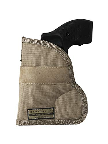 Barsony New Desert Sand Ambidextrous Pocket Holster for Taurus 605 650 CIA