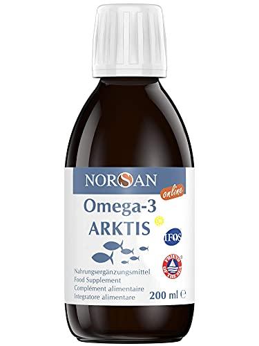 NORSAN Premium Omega 3 Dorschöl hochdosiert - 2000mg Omega 3 pro Portion - 4000 Ärzte empfehlen NORSAN Omega 3 Öl - 100{b2b9a5ed1fb409c43bebd4bd13c9ce5742ed62d4eb43172d3ae96aa606f43a61} aus nachhaltigem Wildfang, kein Aufstoßen
