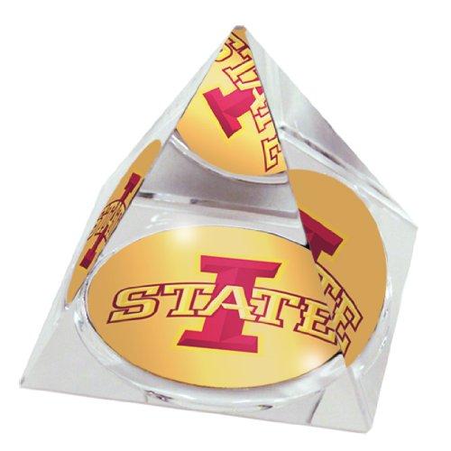 Paragon NCAA Iowa State University, The Cyclones Logo auf Einer 5,1 cm großen Kristallpyramide