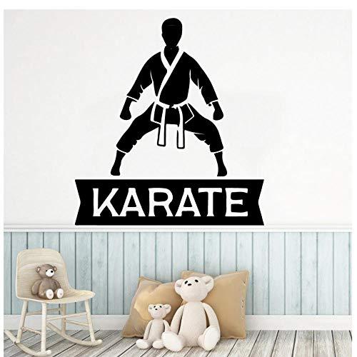 MINGKK - Pegatinas de pared personalizadas de vinilo de karate para cocina, decoración del hogar, casa de los niños, decoración de la habitación de los niños, 57 x 62 cm