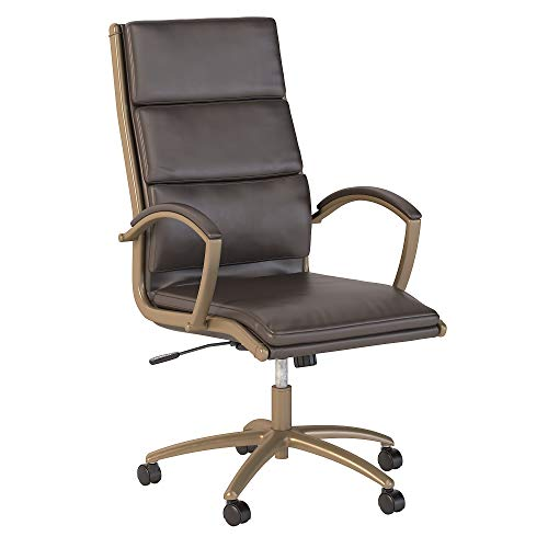 Bush Business Furniture Modelo High Back Leather Executive Office...