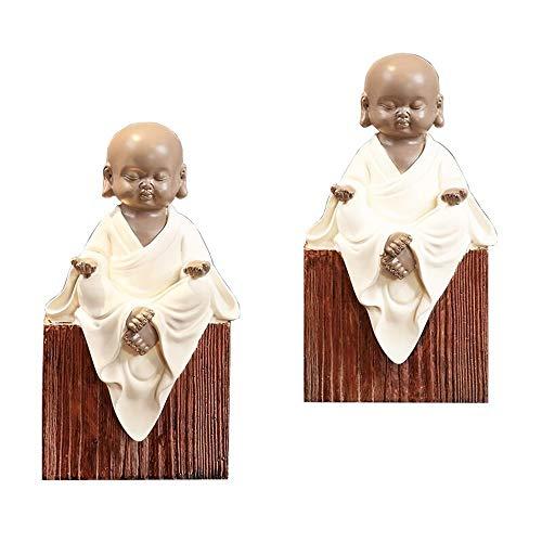 Tbaobei-Baby Bookends Bookends Bookshelf Home Accessori Sala Studio Decoration Piccolo Monaco Decorazioni Libri Mestieri della Resina Ufficio Bookend Bookends Classic (Color : White, Size : One Size)