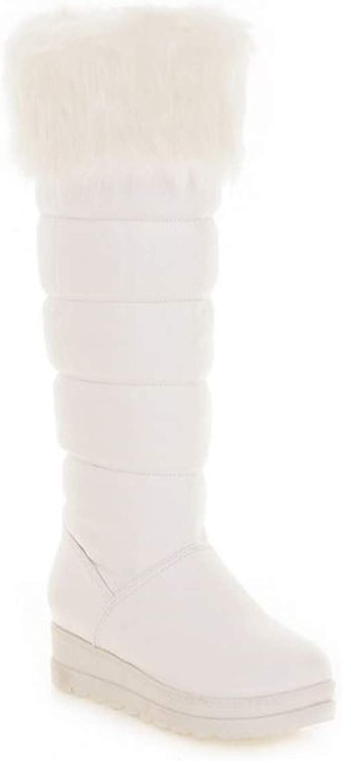 BeautyOriginal Women's Thickened Wedge Snow Boots Casual Boots